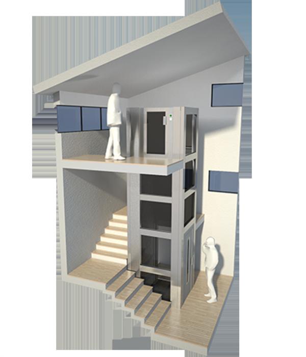 Miniascensori domestici ep elevatori premontati - Mini ascensori da interno ...